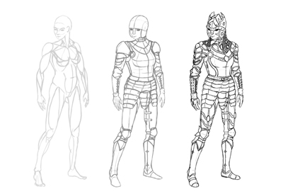 Drawimng female armor prev