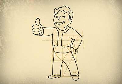 Draw vault boy fallout preview