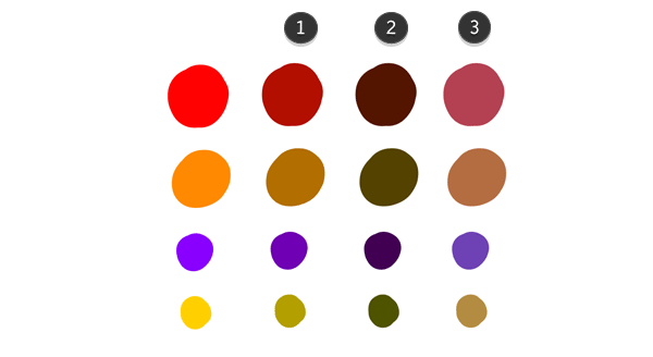 color scheme light shadow