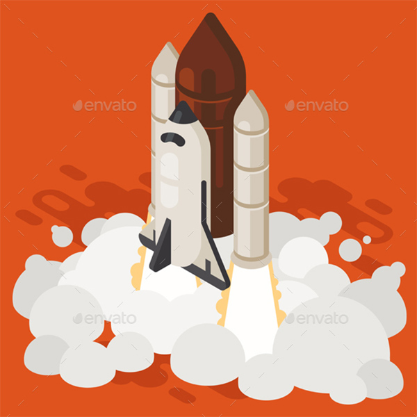 rocket graphic download