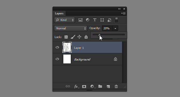 photoshop how to change layer opacity