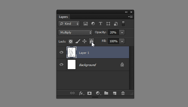 photoshop how to lock layer