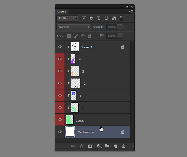 photoshop how to filter layers