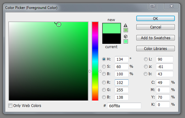 photoshop pick color