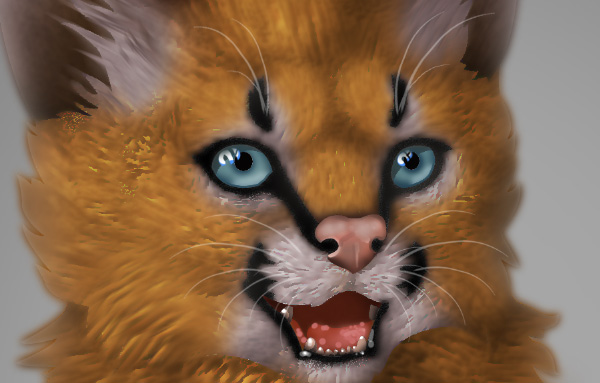 photoshop digital painting no tablet whiskers subtle