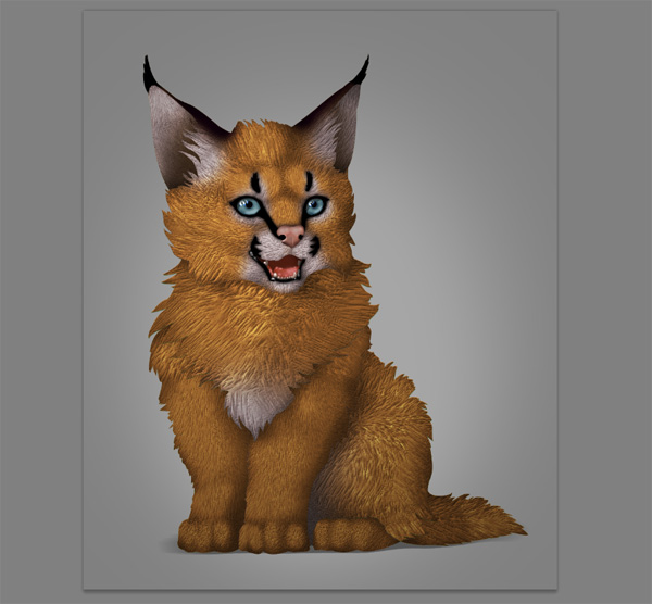 photoshop digital painting no tablet fur texture added