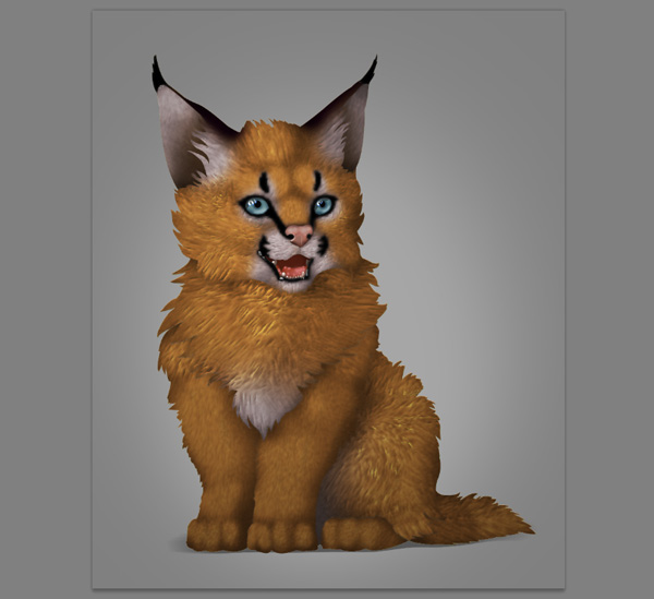 photoshop digital painting no tablet smoothened fur