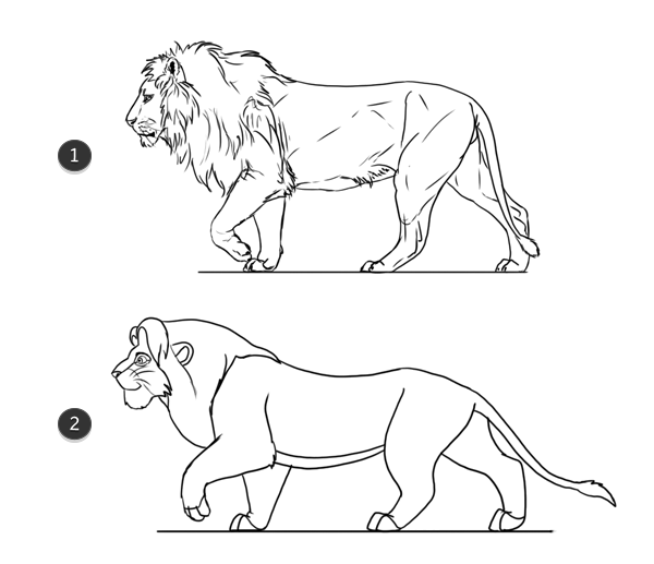 lion king style copy styles