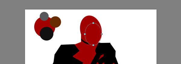 draw vector deadpool photoshop ellipse face