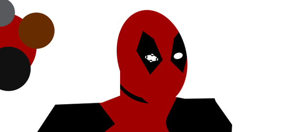 draw vector deadpool photoshop eyes