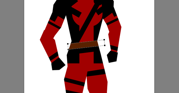 draw vector deadpool photoshop belt
