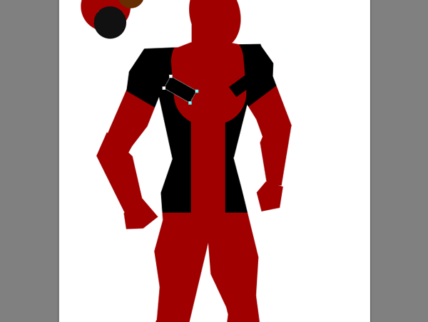 draw vector deadpool photoshop breat area