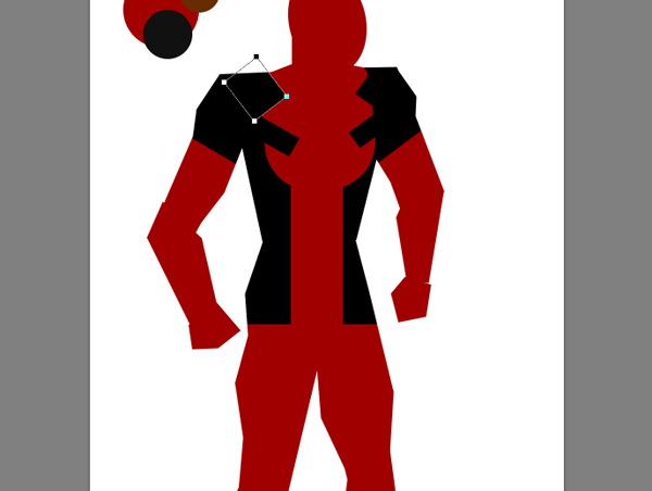 draw vector deadpool photoshop shoulders