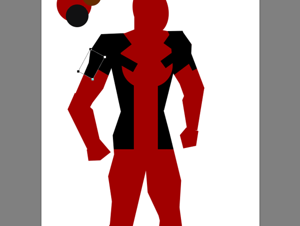 draw vector deadpool photoshop pauldrons