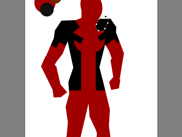 draw vector deadpool photoshop torso strap holder