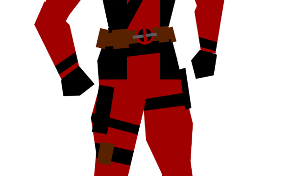 draw vector deadpool photoshop holsters