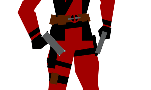 draw vector deadpool photoshop guns
