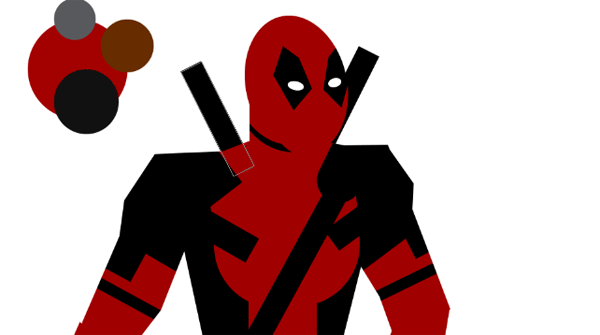 draw vector deadpool photoshop katana swords
