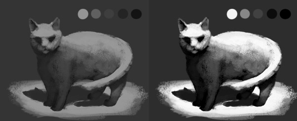 optical illusions how to fix contrast in digital painting