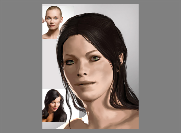 photoshop skin blended