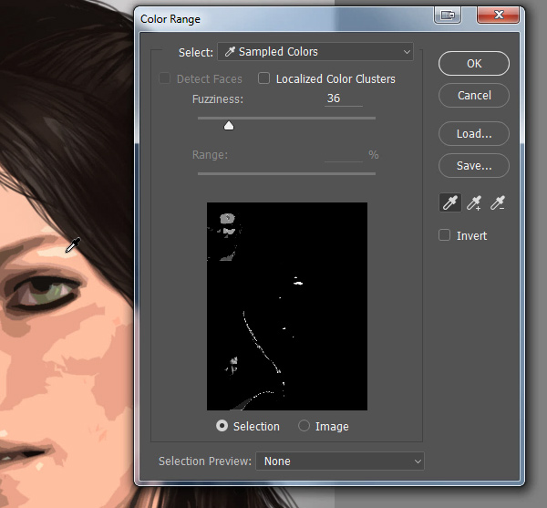 photoshop how to select single skin shade
