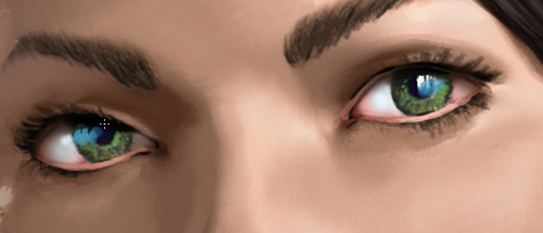 photoshop how to paint realistic eyes digitally
