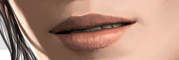 photoshop how to paint realistic lips
