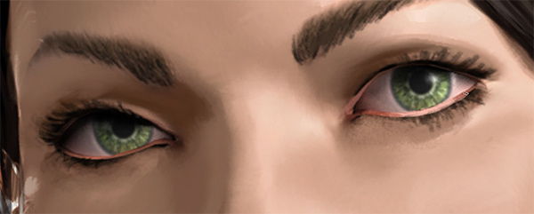 photoshop how to paint eyelashes eyelids