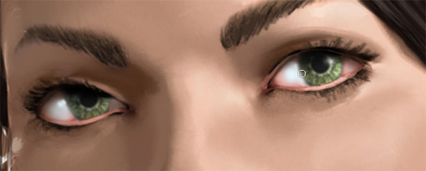 photoshop how to paint light in eyes