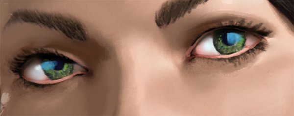 photoshop how to paint reflection in the eyes