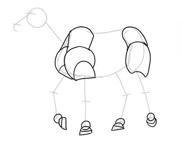 hooves added