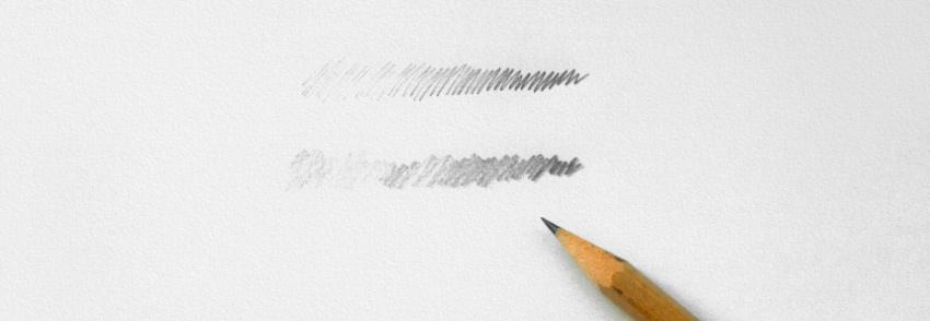 Pencil drawing method tilt