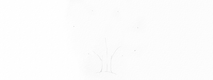 how to start drawing oak branches