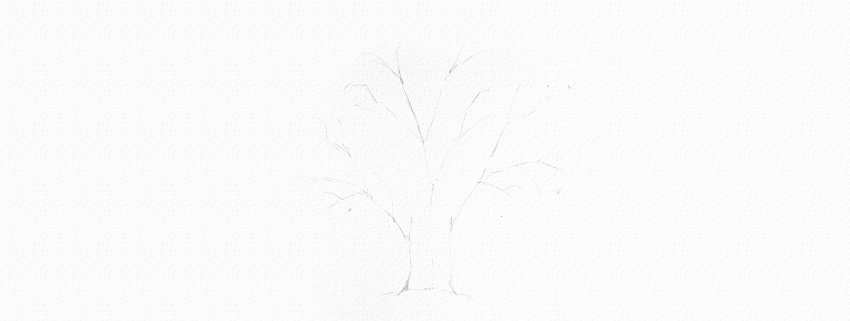 how to draw tree crown