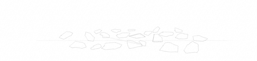 how to draw rocks simple way