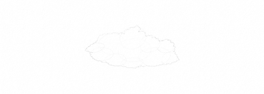 how to draw a cloud outline