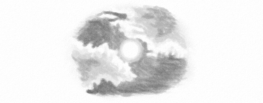 how to draw sky with pencils
