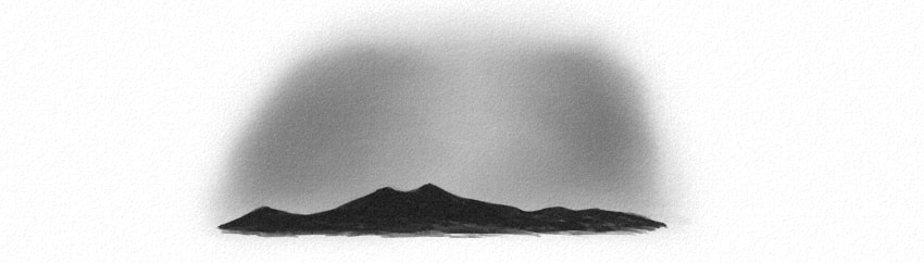 how to draw dark silhouette of mountains