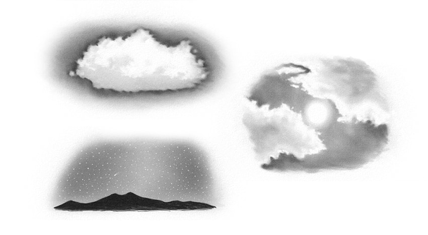how to draw sky clouds tutorial