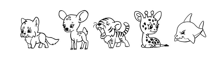 How To Draw Simple Cute Animals In Chibi Style With Videos
