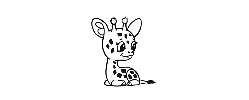 how to draw a chibi giraffe