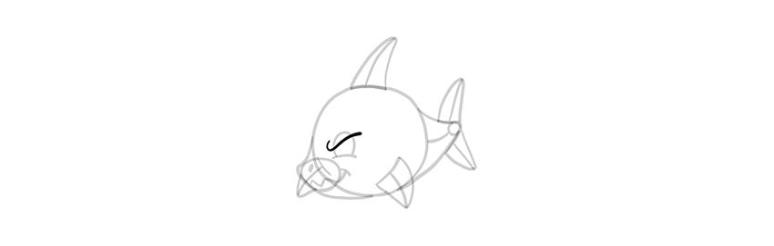 chibi shark angry
