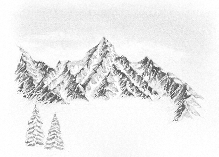 Snow Mountains Drawing | www.pixshark.com - Images ...