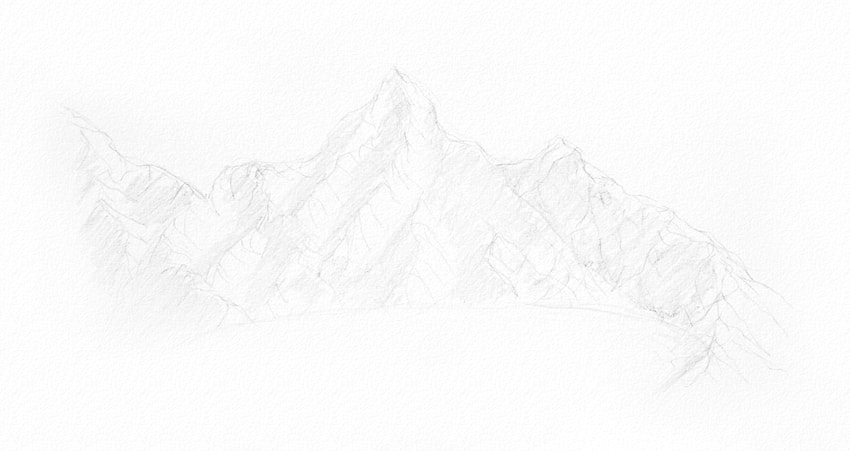 how to shade mountains