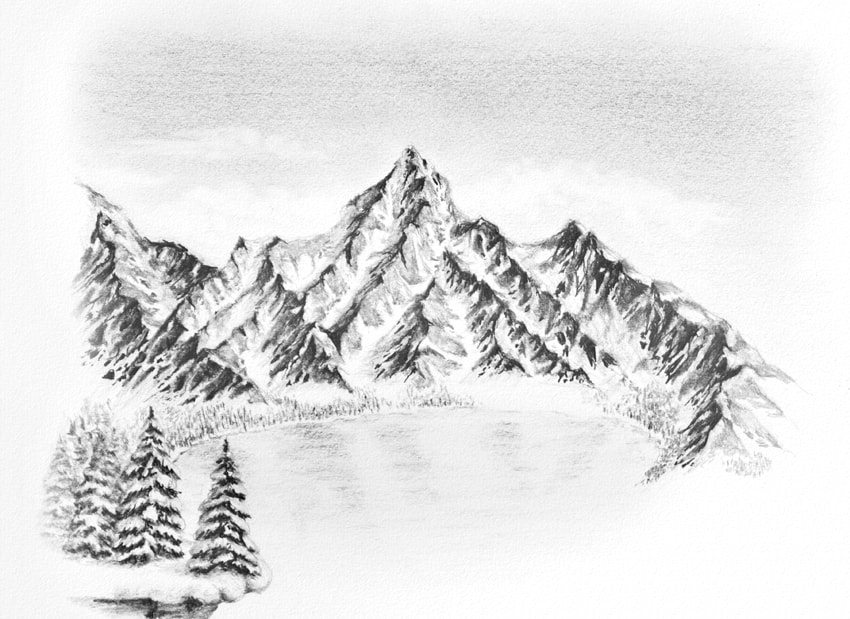 how to draw frozen lake