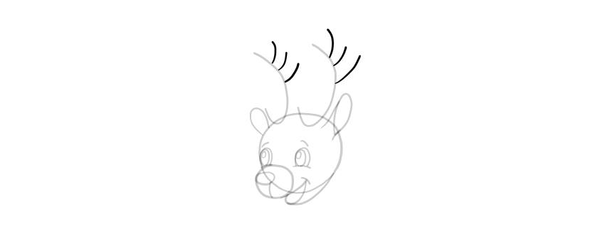 how to draw antlers quickly