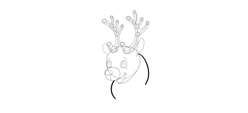 how to draw deer mane