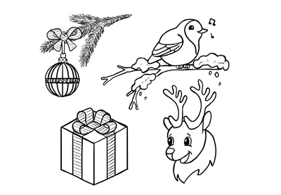 how to draw simple christmas iconswith videos - Simple Christmas Drawings