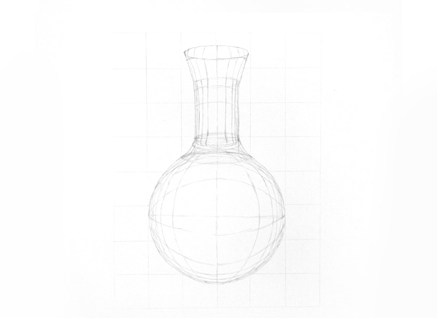 how to draw refraction in glass