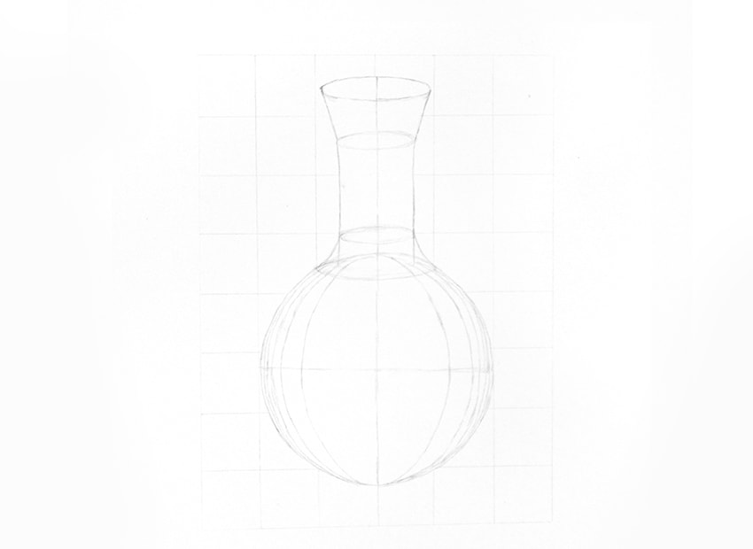 how to draw a glass sphere